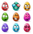 happy easter set color egg vector image vector image