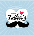 happy fathers day cute card design background vector image