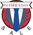 happy fathers day sale banner design vector image vector image