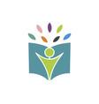 happy study logo vector image