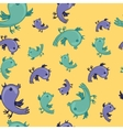 hattern with colorful birds are singing vector image vector image