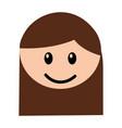 head girl happy expression vector image