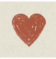heart on paper texture vector image