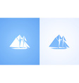 Icon of Sailing Ship vector image vector image