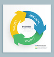 infographic arrow with business data vector image vector image