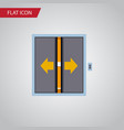 isolated elevator flat icon lobby element vector image vector image