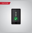 isolated smartphone flat icon cellphone vector image