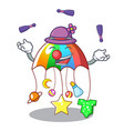 juggling baby playing with cartoon hanging toys vector image vector image