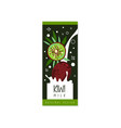 kiwi milk logo original design label for natural vector image vector image