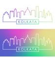 kolkata skyline colorful linear style editable vector image vector image