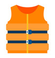 life vest icon flat isolated vector image vector image