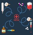 medical instruments and doctor tools medicament in vector image vector image