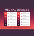 medical services infographic 10 option template vector image vector image