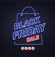 Neon sign black friday big sale open on brick