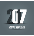 New Year 2017 poster design template New year vector image vector image