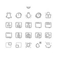 oven symbols well-crafted pixel perfect vector image vector image