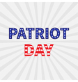 Patriot day starburst background Flat vector image