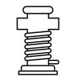 port ship pillar icon outline style vector image vector image