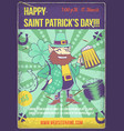 poster design with st patrick vector image vector image