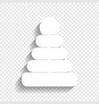 pyramid sign white icon with vector image vector image