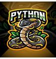 python esport mascot logo design vector image