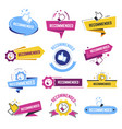 recommended banners with likes and thumbs up vector image