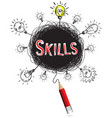 red pencil idea concept red skill education and vector image vector image