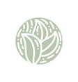 round bio emblem in a circle linear style vector image vector image