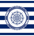sea emblem with a wind rose vector image vector image