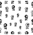 Seamless abstract pattern with skull on white vector image vector image