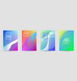 set banners with wave liquid texture vector image