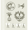 Set of vintage labels for hairdresser and barber vector image