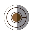 silhouette color sticker with coffee cup top view vector image vector image