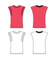 sleeveless t-shirt vector image vector image