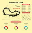 speed race circuit vector image vector image