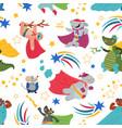 superhero pattern cartoon heroes bacute vector image