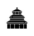 temple heaven black glyph icon vector image vector image