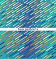 two seamless patterns on a blue gradient vector image vector image