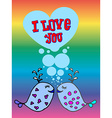 Valentine for gays lgbt vector image vector image