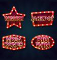 vegas casino night signboard template vector image