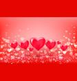 volumetric hearts balloons on hearts bokeh vector image vector image