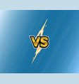 vs letters lightning on blue background versus vector image vector image