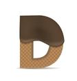 Wafer D letter vector image vector image