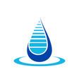 water filtration drop blue symbol design vector image vector image
