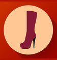 womens fashion shoes boots icon female winter vector image