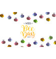 world bee day watercolor cute bees background