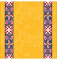 yellow lace border stripe in ornate floral vector image vector image
