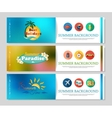Colorful summer holidays and travel banners vector image