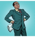 Confident African businessman vector image