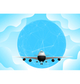 plane and earth vector image